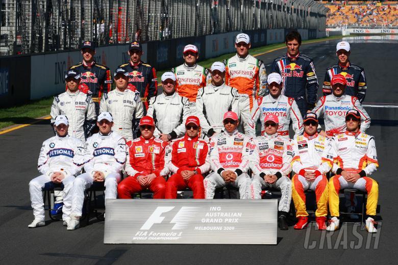 Drivers photo pre raceING Australian Formula 1 Grand PrixRd 1 World F1 ChampionshipAlbert