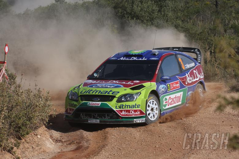 Mikko Hirvonen (FIN) Jarmo Lehtinen(FIN), Ford Focus RS WRC08, BP Ford Abu Dhabi World Rally Team