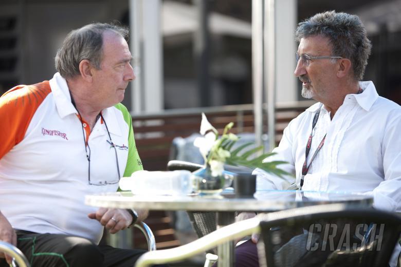 Ian Phillips (GBR) Force India F1, Eddie Jordan (IRE), Australian F1 Grand Prix, Albert Park, Melbou
