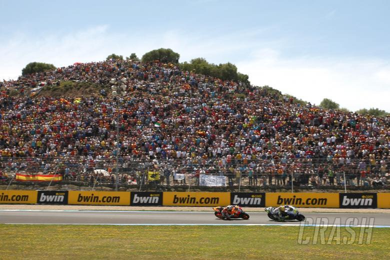 Rossi, Pedrosa, Spanish MotoGP Race 2009