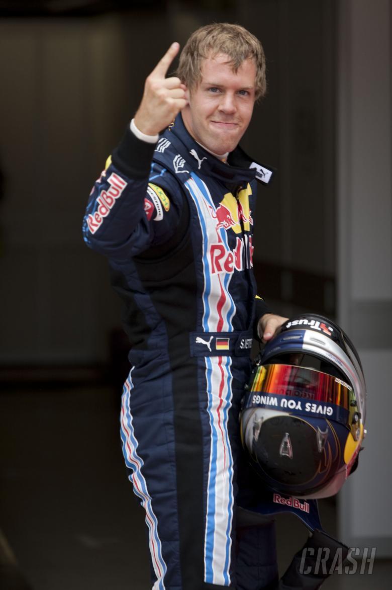Sebastian Vettel (GER) Red Bull RB5 Gets Pole, British F1, Silverstone, 19th-21st, June, 2009