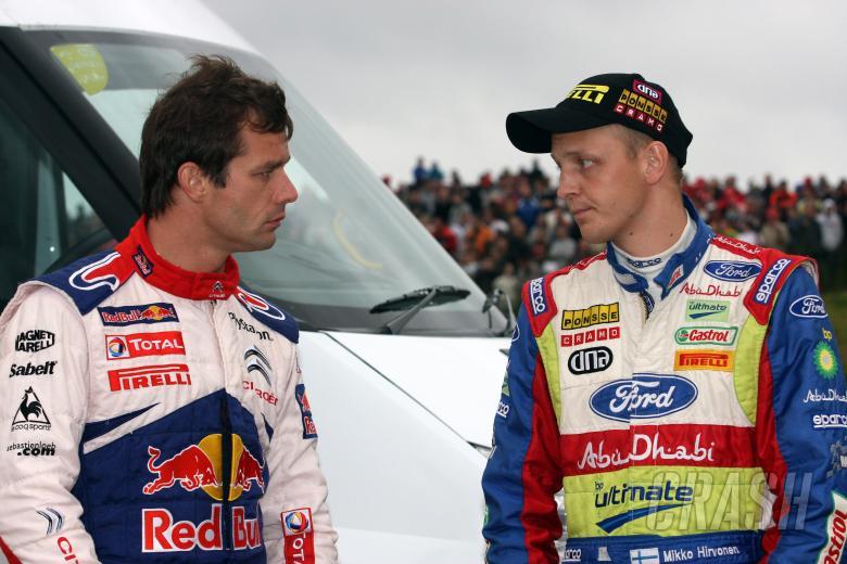 Sebastien Loeb (FRA), Citroën C4, Citroën Total World Rally Team and Mikko Hirvonen (FIN),