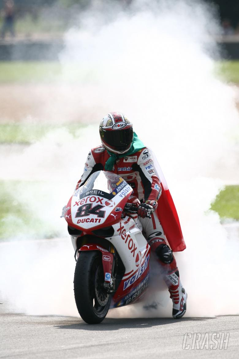 Fabrizio, British WSBK Race 2 2009