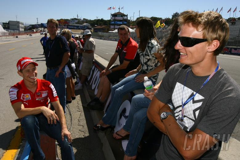 Stoner and Davies, USA MotoGP 2009