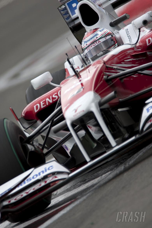 Jarno Trulli (ITA) Toyota TF109, German F1 Grand Prix, Nurburgring, 10-12th, July 2009