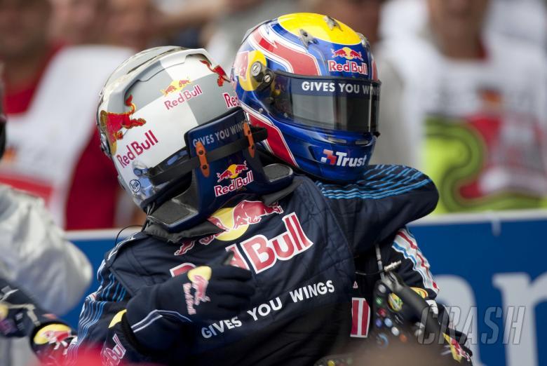 Sebastian Vettel (GER) Red Bull RB5 Mark Webber (AUS) Red Bull RB5, German F1 Grand Prix, Nurburgrin