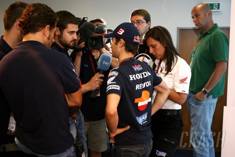 Pedrosa, Press, German MotoGP 2009