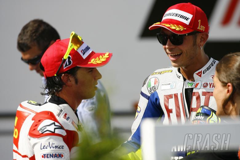 Elias and Rossi, Czech MotoGP 2009