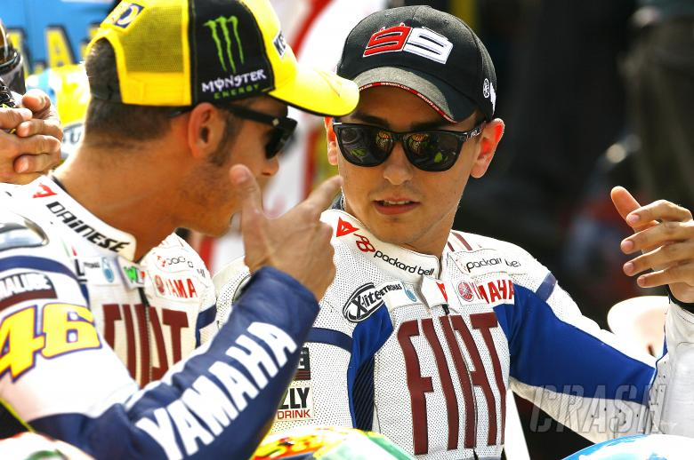 Rossi and Lorenzo, Indianapolis MotoGP 2009