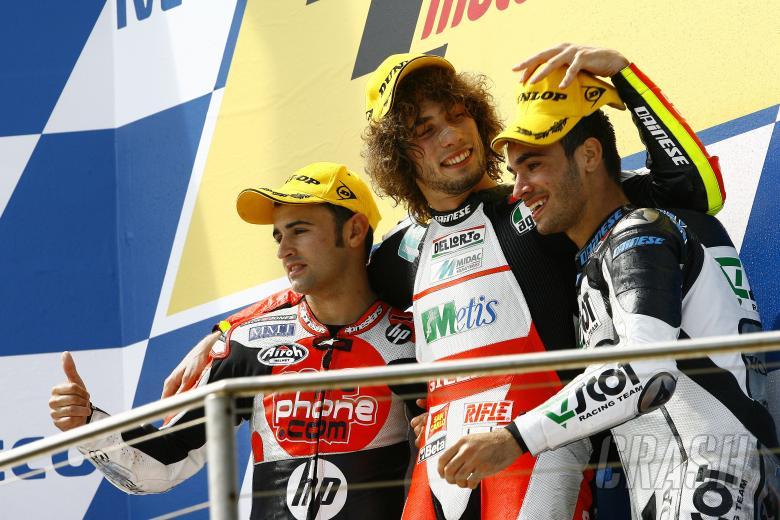 Barbera, Simoncelli, De Rosa, Australian 250GP 2009