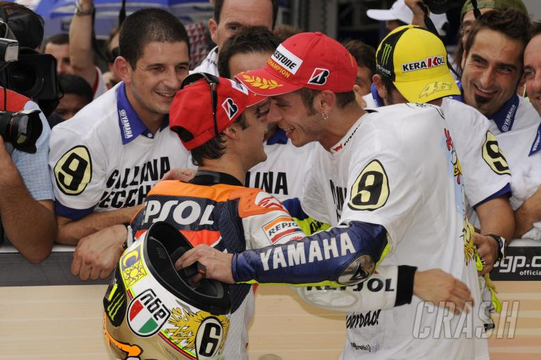 Pedrosa and Rossi, Malaysian MotoGP Race 2009