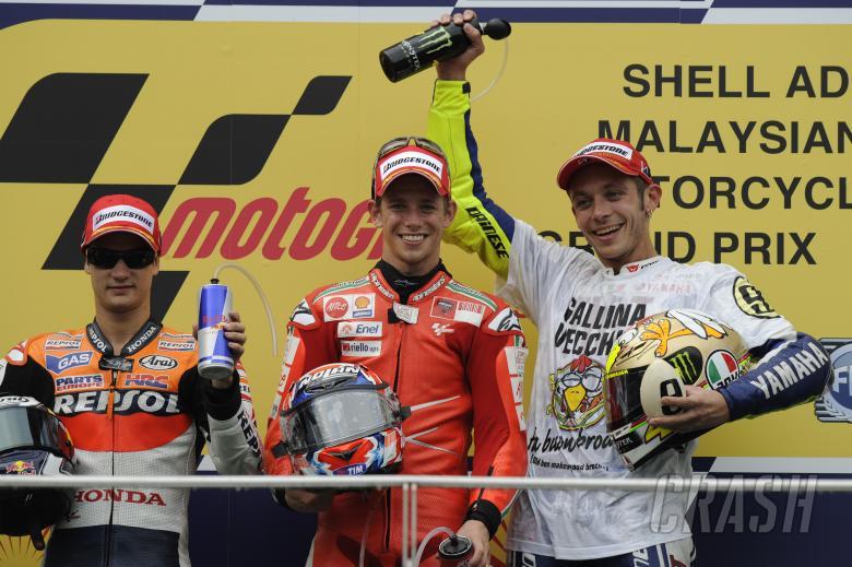 Pedrosa, Stoner and Rossi