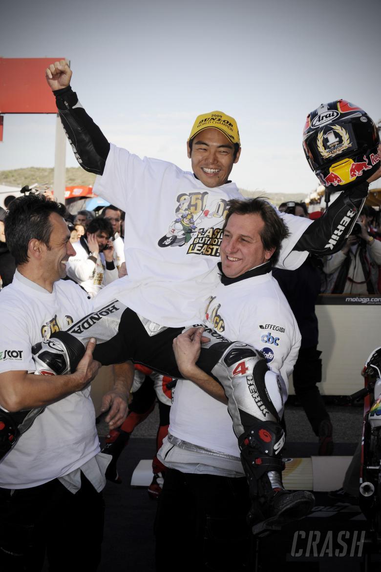 Aoyama, Valencia 250GP Race 2009