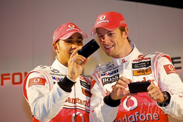 Lewis Hamilton (GBR), Jenson Button (GBR), McLaren MP4-25 Launch, Newbury, GB, Vodafone, Mercedes