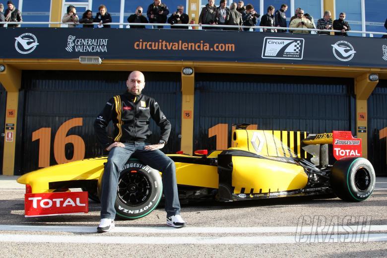 31.01.2010 Valencia, Spain Gerard Lopez (FRA) Genii Capital, Renault F1 Team - Renault F1 Team Launc