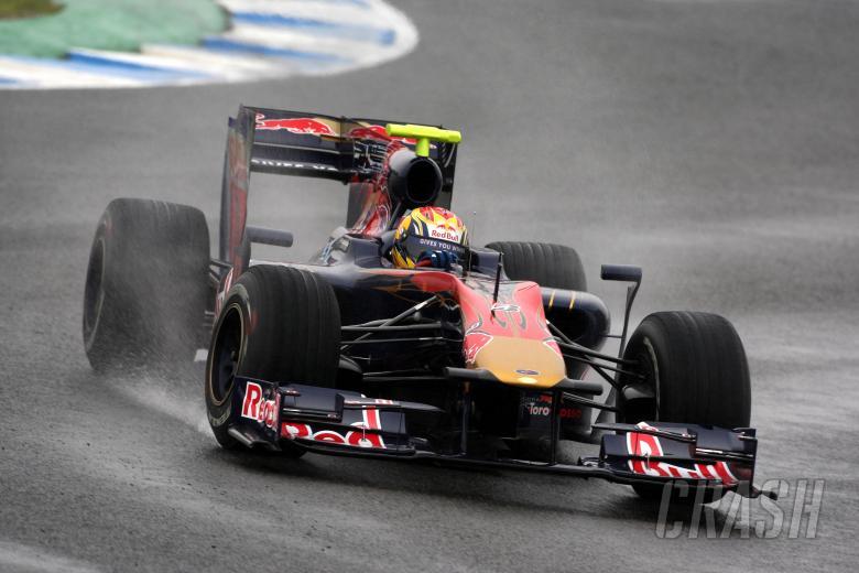 12.02.2010 Jerez, Spain, Jaime Alguersuari (ESP), Scuderia Toro Rosso, STR05 - Formula 1 Testing, Je