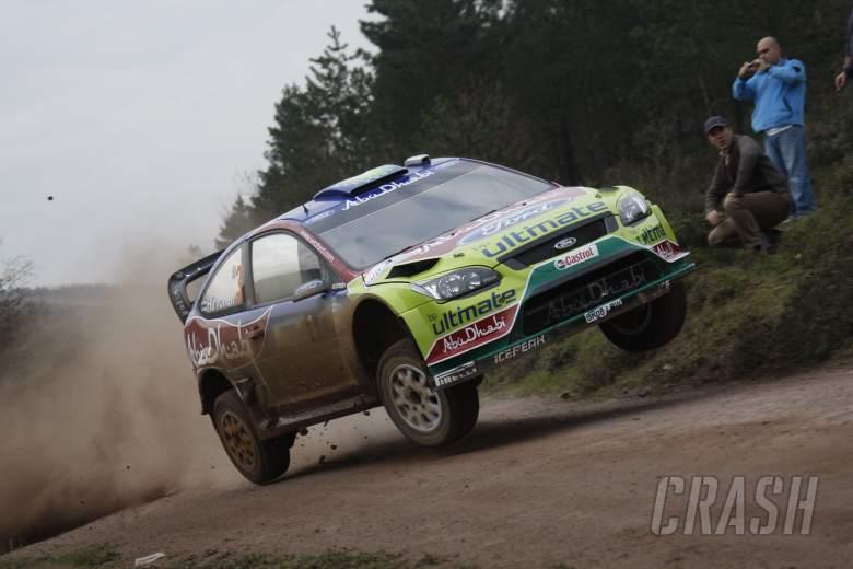 Mikko Hirvonen (FIN) Jarmo Lehtinen (FIN), Ford Focus RS WRC08,  BP Ford Abu Dhabi World Rally Team
