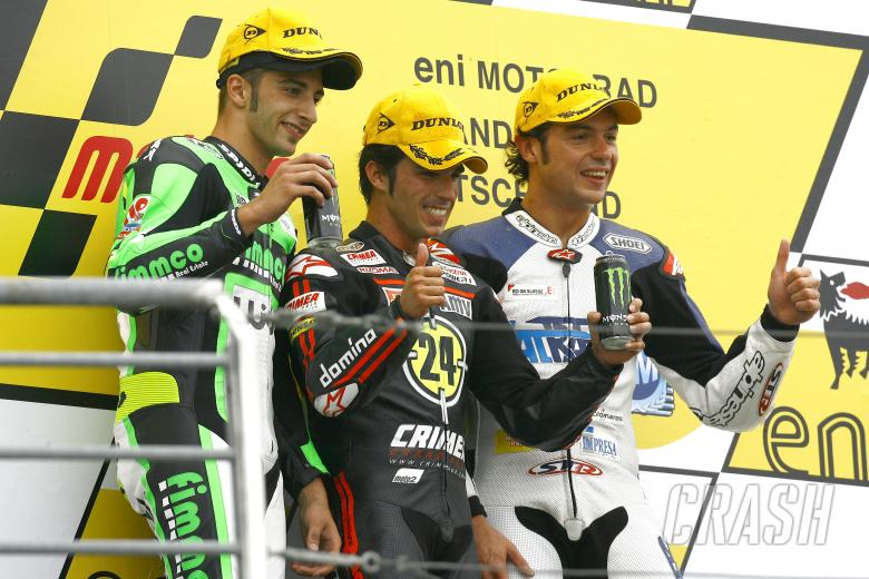 , , Ianonnone, Elias, Rolfo, Moto2 race, German MotoGP 2010