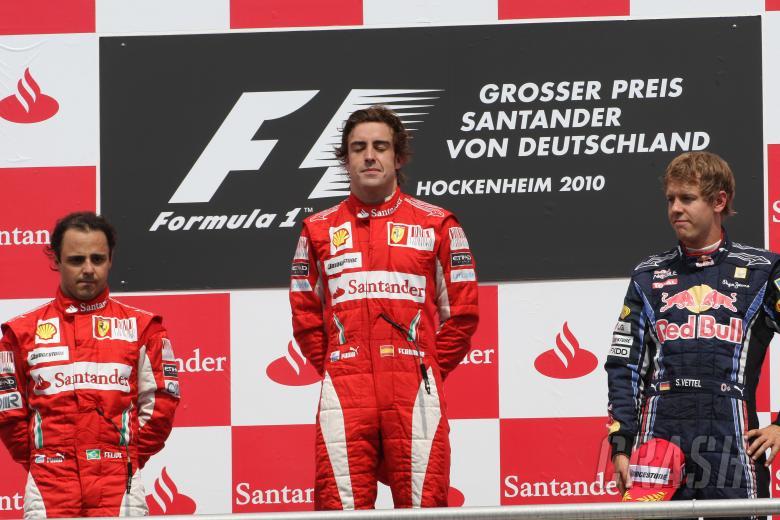 Race, Fernando Alonso (ESP), Scuderia Ferrari, F10 race winner, Felipe Massa (BRA), Scuderia Ferrari