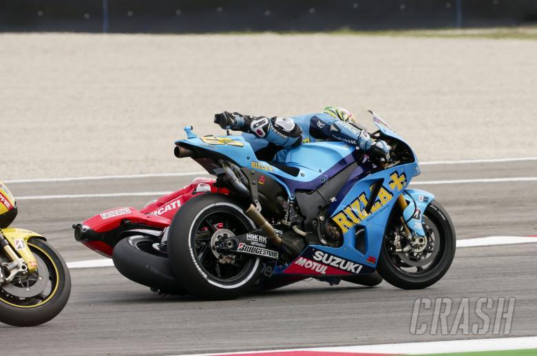 Hayden and Capirossi crash, San Marino MotoGP, 2010