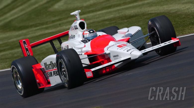 Sam Hornish Jr, Marlboro Team Penske Dallara-Toyota, Indianapolis Motor Speedway 2005.