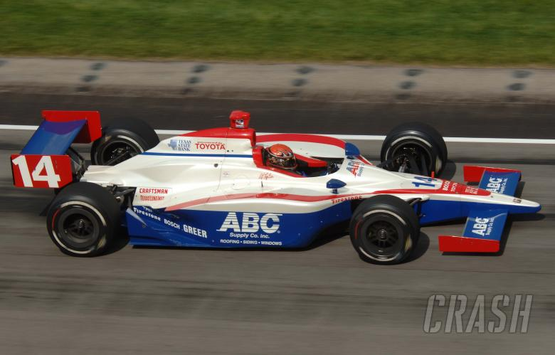 A.J. Foyt IV, AJ Foyt Racing Dallara-Toyota, Indianapolis Motor Speedway 2005.