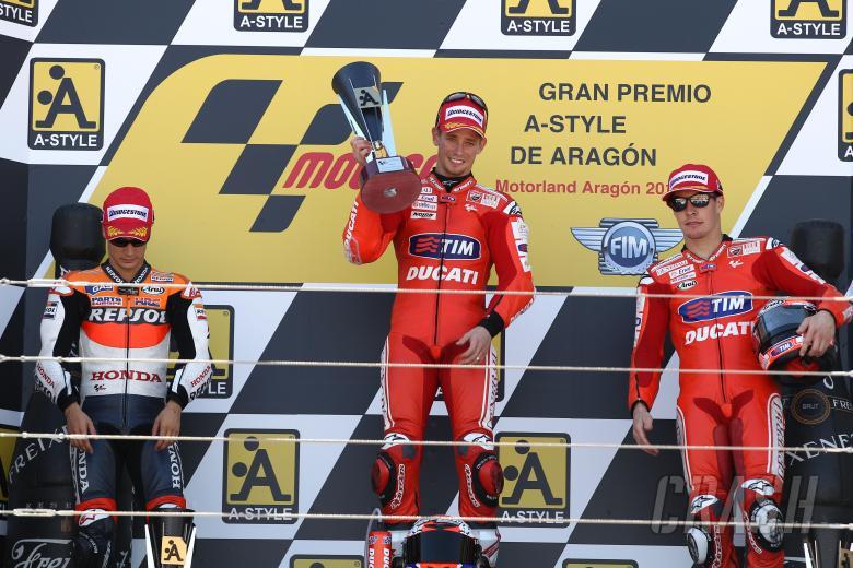 Pedrosa, Stoner, Hayden, Aragon MotoGP 2010