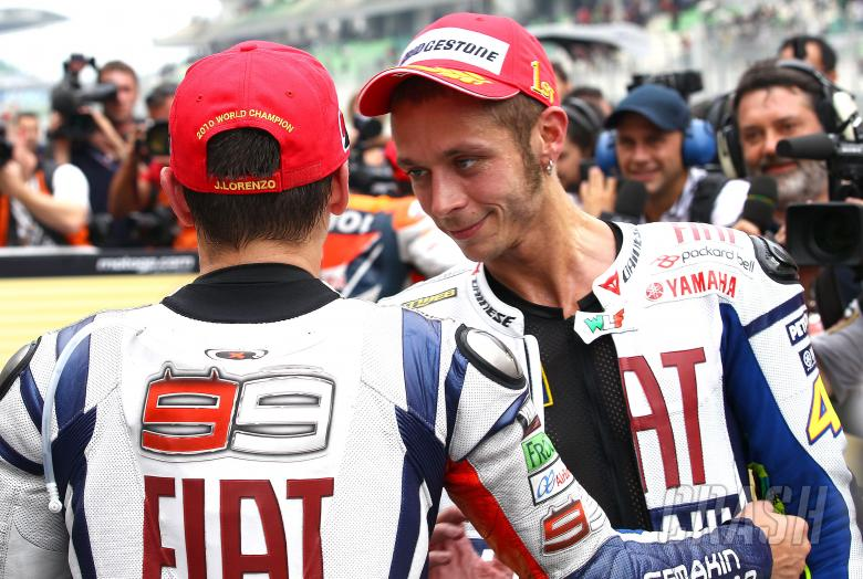 Lorenzo and Rossi, Malaysian MotoGP 2010
