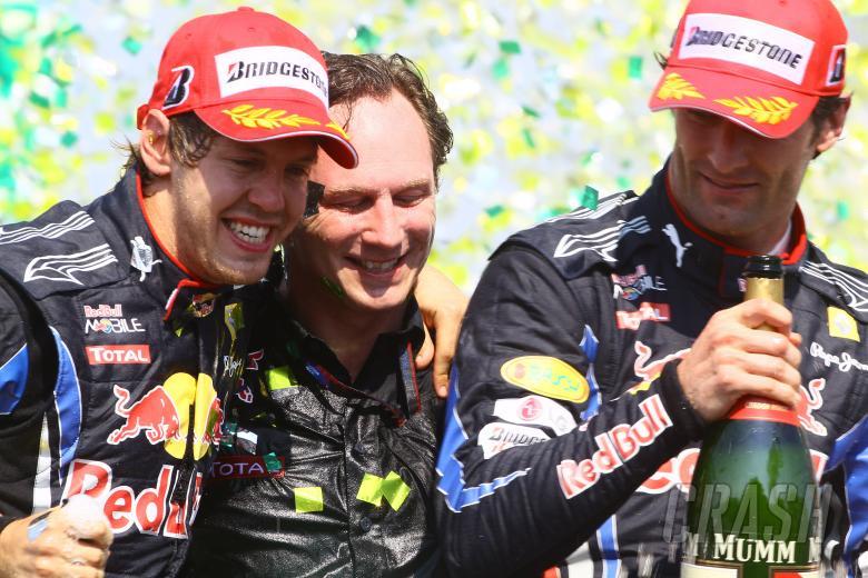 Race, Sebastian Vettel (GER), Red Bull Racing, RB6 race winner, Mark Webber (AUS), Red Bull Racing,