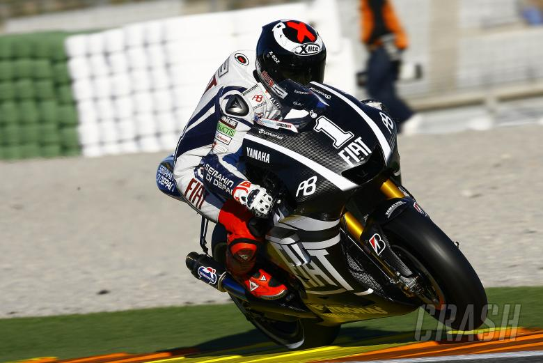 Lorenzo, Valencia MotoGP test, November 2010