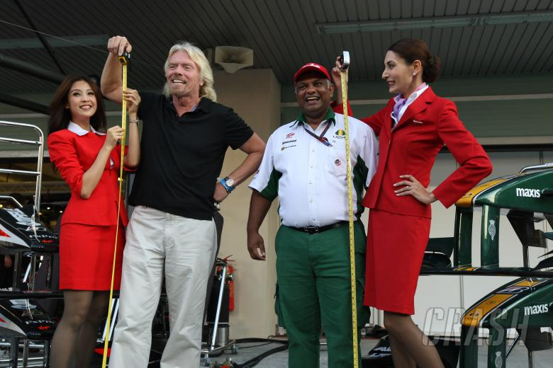 Saturday, Sir Richard Branson (GBR), Virgin Group CEO, Tony Fernandes (MAL), Lotus F1 Team follow up