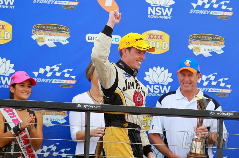 James Courtney (Aust), #18 Jim Beam DJR FG Ford Races 25 and 26 V8 Supercars Sydney Telstra 50