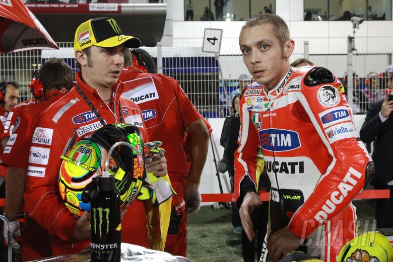 Alessio Salucci and Rossi, Qatar MotoGP 2011