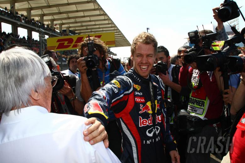 08.05.2011- Race, Bernie Ecclestone (GBR), President and CEO of Formula One Management  and Sebastia