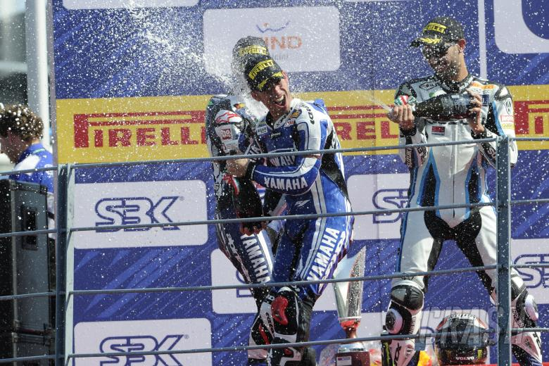 Melandri, Laverty, Fabrizio, Monza WSBK Race 2 2011