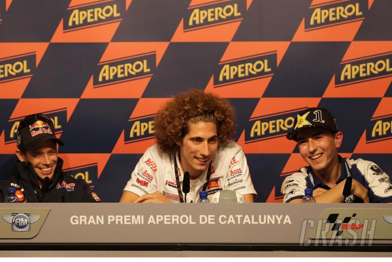 Stoner, Simoncelli, Lorenzo, Catalunya MotoGP 2011