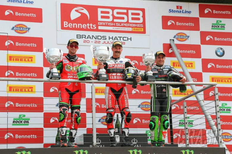 British Superbikes: Brookes takes Brands Hatch double, loses moustache