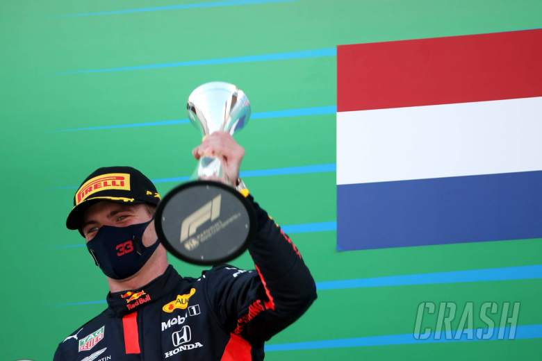 Max Verstappen (NLD) Red Bull Racing RB16 3rd place.