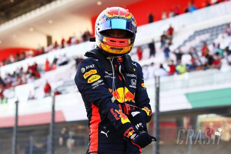 Third placed Alexander Albon (THA) Red Bull Racing in parc ferme.