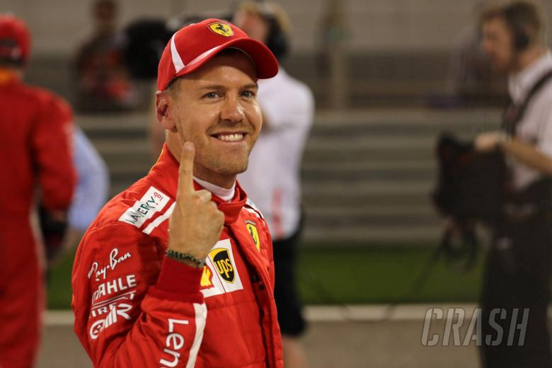 "F1: Vettel ""surprised"" by Ferrari's competitiveness after Bahrain GP pole"