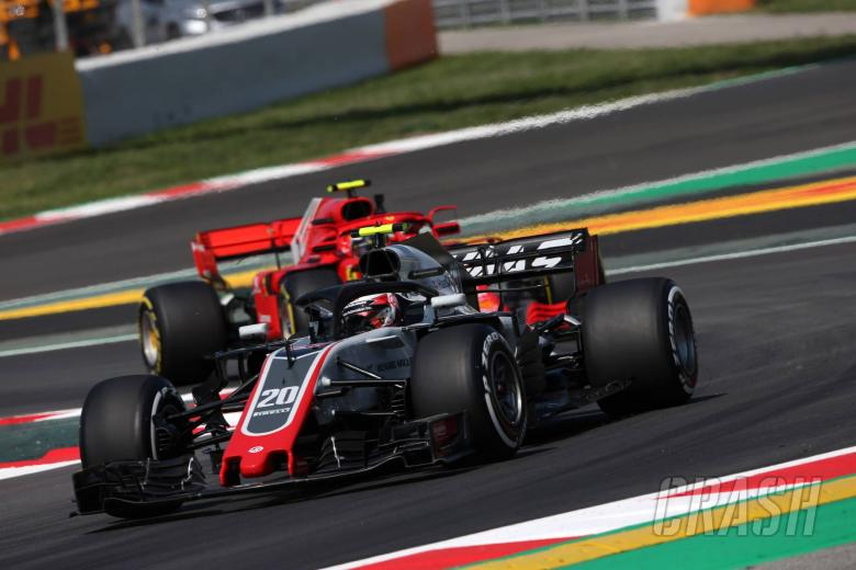 F1: Magnussen hit by reprimand for Leclerc FP1 incident