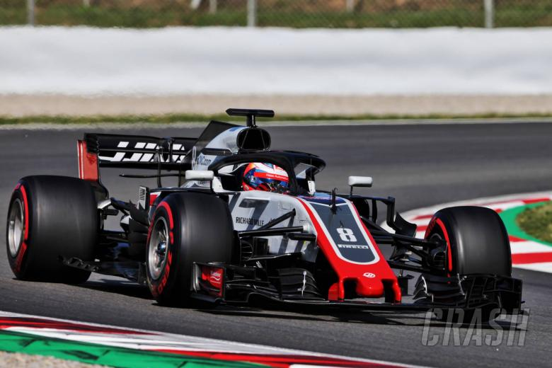 F1: Grosjean leads morning on Day 1 in Barcelona