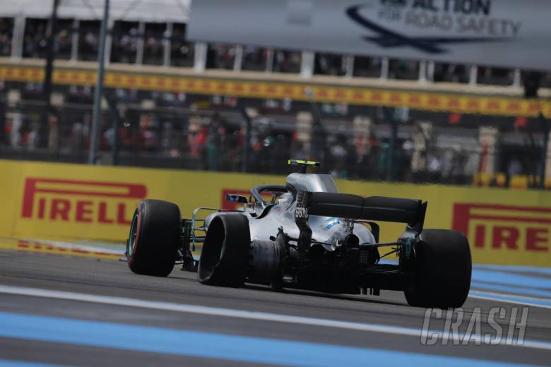 F1: Mercedes: Bottas lost five percent downforce in France