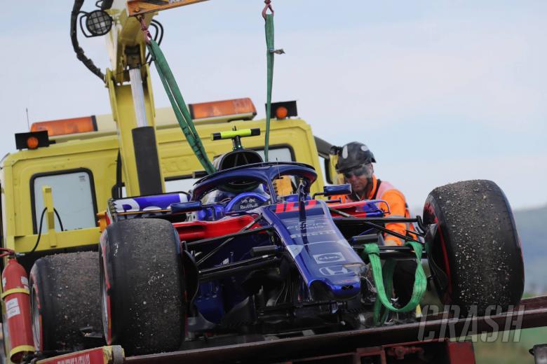 24.06.2018- Race, Pierre Gasly (FRA) Scuderia Toro Rosso STR13 car on tow truck