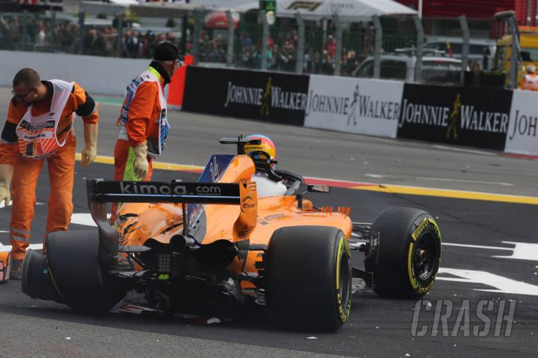 F1: Alonso experienced back pain after Belgian GP crash