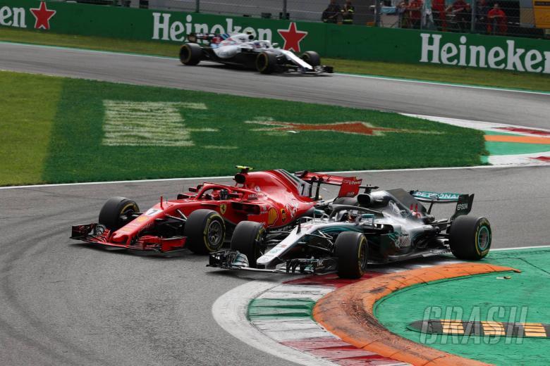 02.09.2018 - Race, Kimi Raikkonen (FIN) Scuderia Ferrari SF71H and Lewis Hamilton (GBR) Mercedes AMG F1 W09