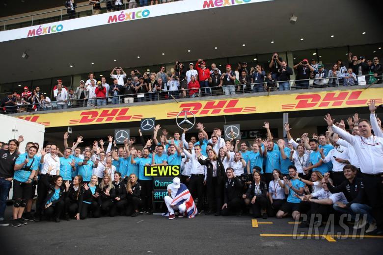 28.10.2018 - Celebration, Lewis Hamilton (GBR) Mercedes AMG F1 W09, F1 champion 2018