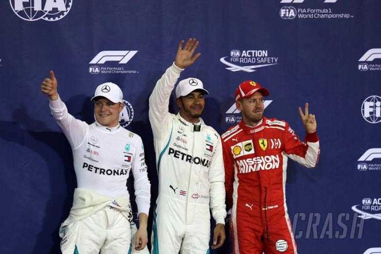 24.11.2018 - Qualifying, 2nd place Valtteri Bottas (FIN) Mercedes AMG F1 W09, Lewis Hamilton (GBR) Mercedes AMG F1 W09 pole position and 3rd place Sebastian Vettel (GER) Scuderia Ferrari SF71H