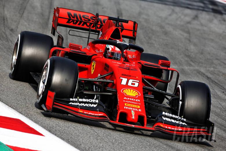 Leclerc tops day two of F1 testing as Gasly crashes out