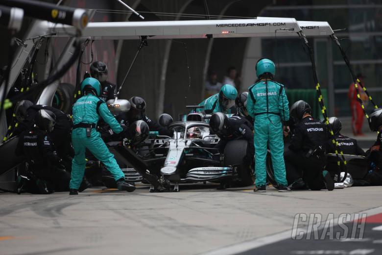 F1: Wolff explains Mercedes' 'proud' double-stack pit stop